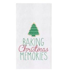 C and F Home Holiday Dish Towel Baking Xmas Memories, floursack