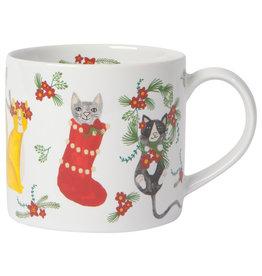 Now Designs Holiday Meowy Christmas Mug in a Box