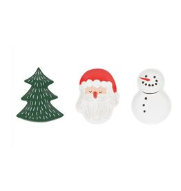 Now Designs Holiday DIshes, Must Be Santa, Set of 3
