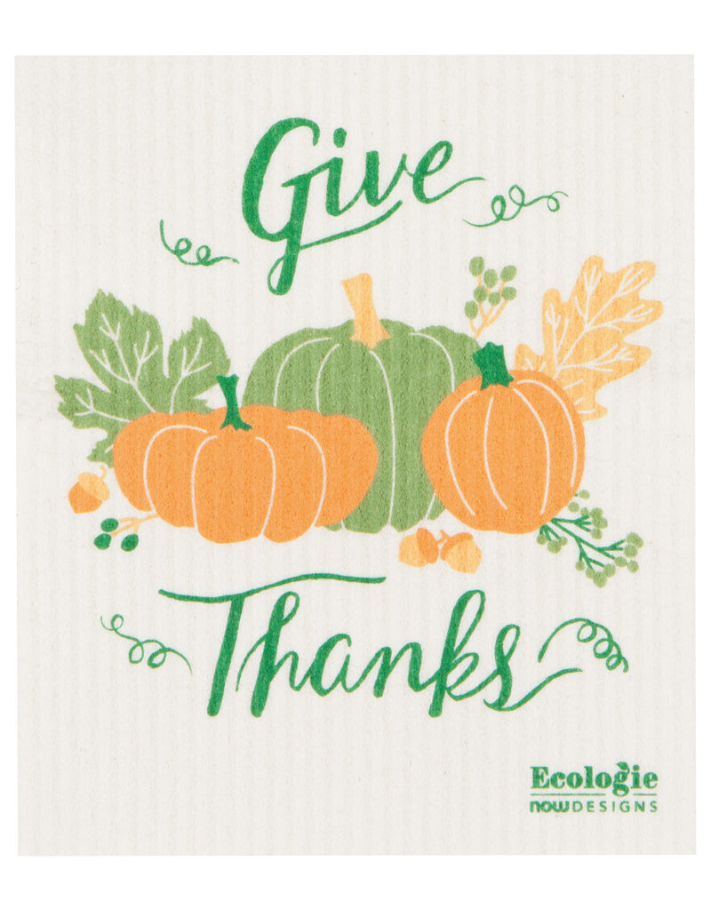 """Now Designs Swedish Dish Fall Autumn Harvest """"Give Thanks"""" now"""