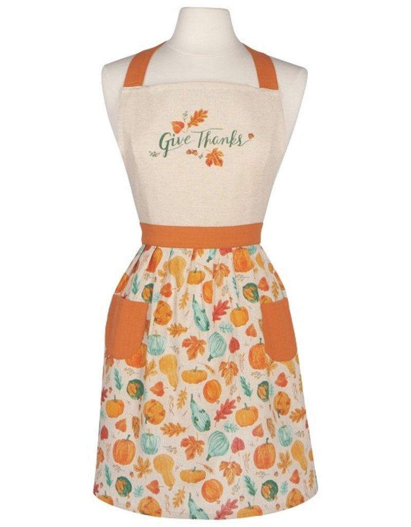 """Now Designs Fall Apron, Autumn Harvest """"Give Thanks"""""""