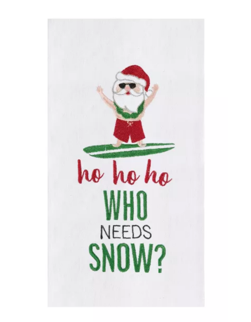 C and F Home Holiday Dish Towel Who Needs Snow