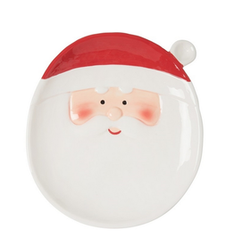 C and F Home Holiday SANTA Plate, Small