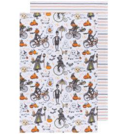 Now Designs Halloween Spooktacular Dish Towels, Set of 2