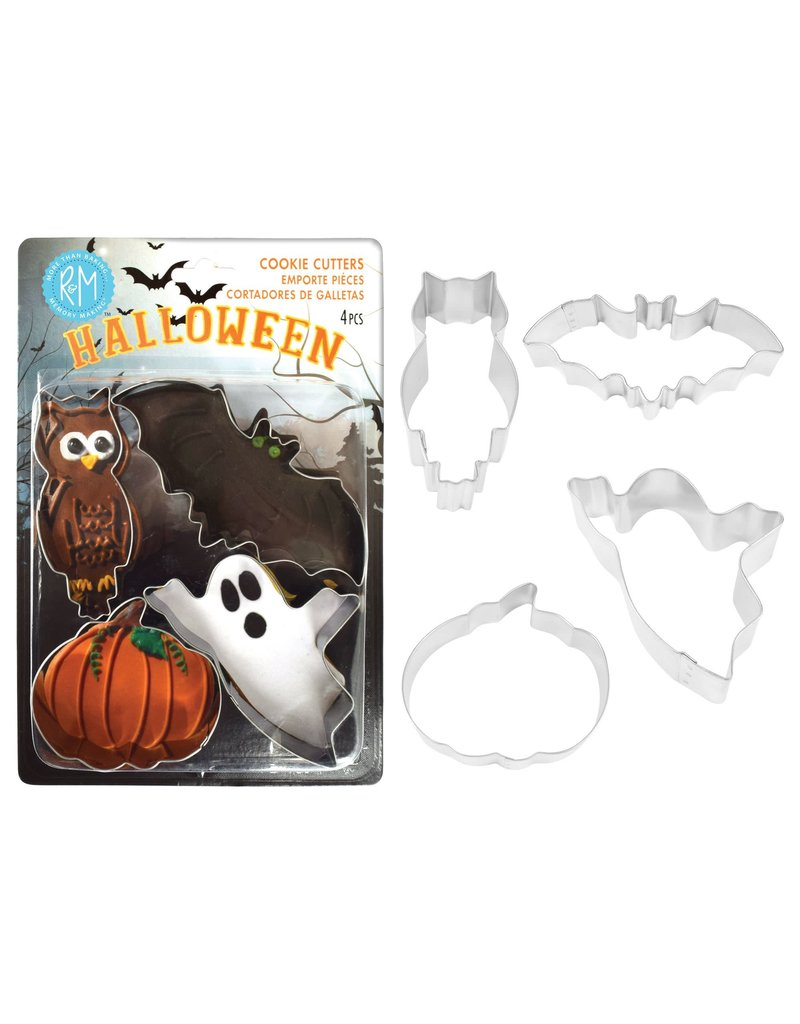 Halloween Cookie Cutters, 4pc Stainless Set, rm