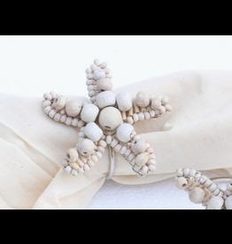 Starfish Napkin Ring, wooden beads