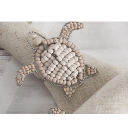 Baby Sea Turtle Napkin Ring, wooden beads