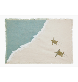 Embroidered Baby Sea Turtle Migration Placemat