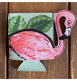 Beachcombers Pink Flamingo Can Sleeve / Koozy