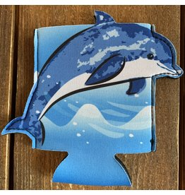 Beachcombers Dolphin Can Sleeve / Koozy