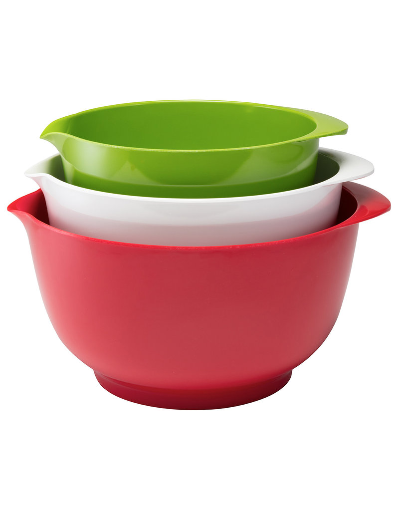 Gourmac/Hutzler Holiday Melamine Mixing Bowls, Boxed - 2,3,4L, Set of 3