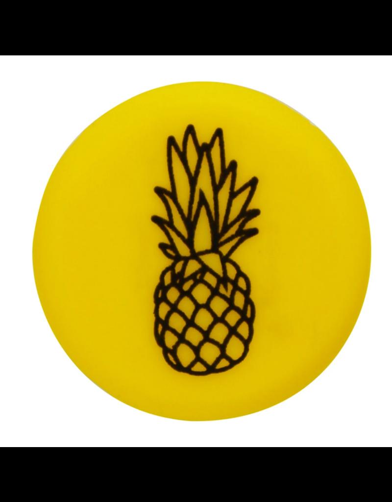 Capabunga Capabunga Leak-Proof Wine Cap, Yellow Pineapple