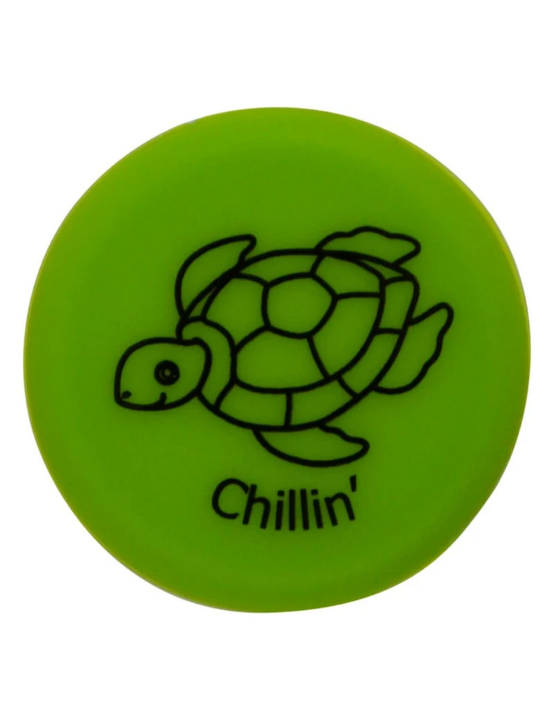 Capabunga Capabunga Leak-Proof Wine Cap, Green Sea Turtle