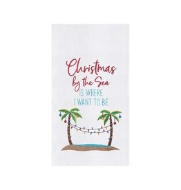 C and F Home Holiday Dish Towel Xmas By the Sea
