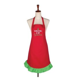 C and F Home Holiday Apron, Drink Up Grinches