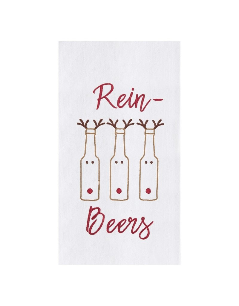 C and F Home Holiday Dish Towel Rein Beers, floursack
