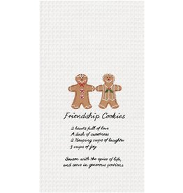 C and F Home Holiday Dish Towel Friendship Gingerbread Cookies, waffle weave