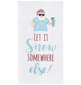 C and F Home Holiday Dish Towel Let It Snow, floursack
