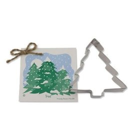 Ann Clark Cookie Cutter Holiday Christmas Tree with Recipe Card, TRAD