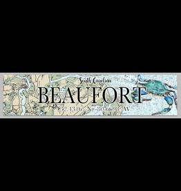Sign Beaufort Map Coordinates, Blue Crab 5x24