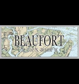 Sign Mini Beaufort Map Coordinates, 3x9