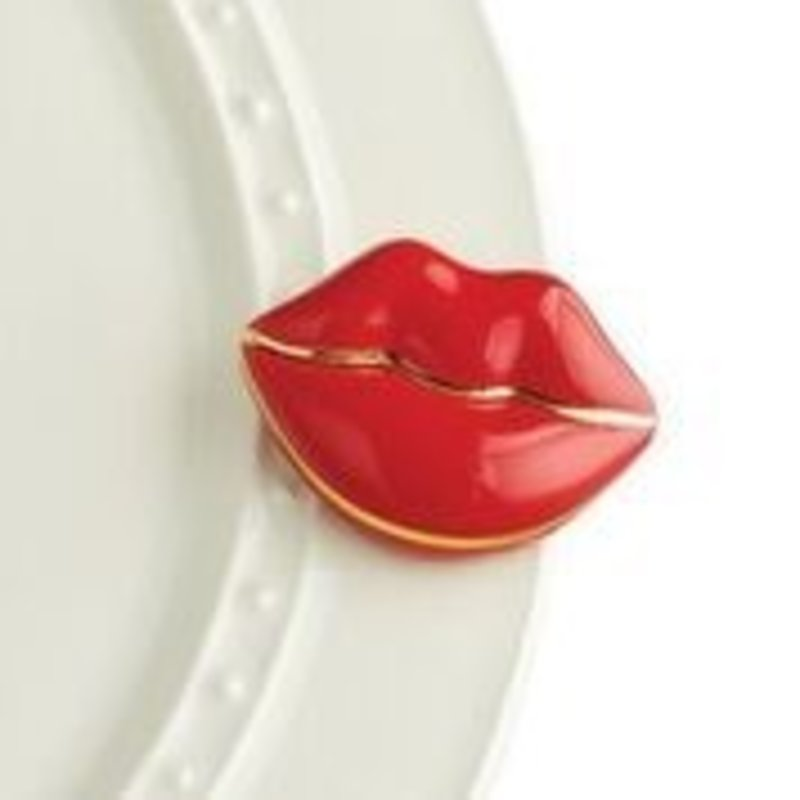 nora fleming smooches! mini (lips)
