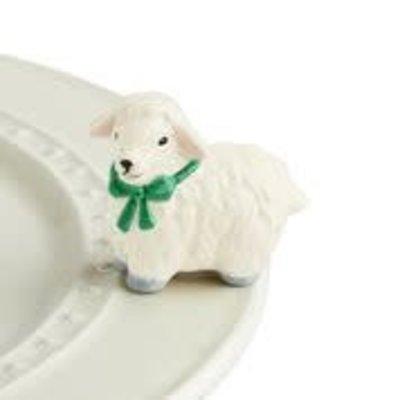 nora fleming i love ewe! mini  (white lamb)