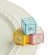 nora fleming ohhh, baby! mini  (baby blocks)