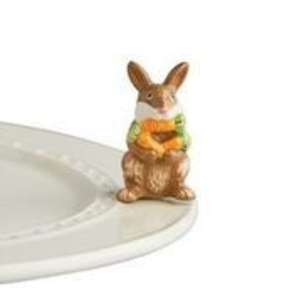 nora fleming funny bunny mini (brown bunny)
