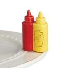 nora fleming main squeeze  mini (ketchup/mustard)