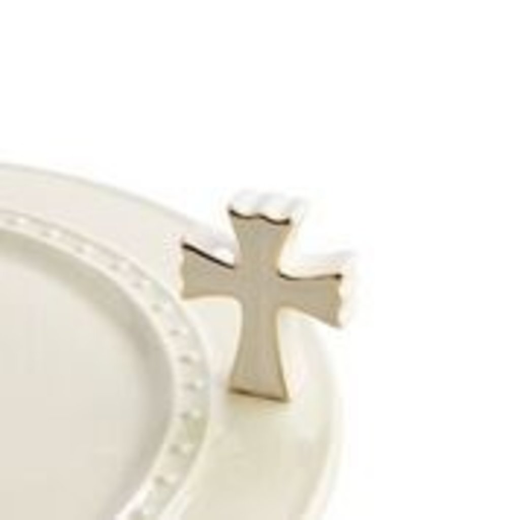 nora fleming white cross mini