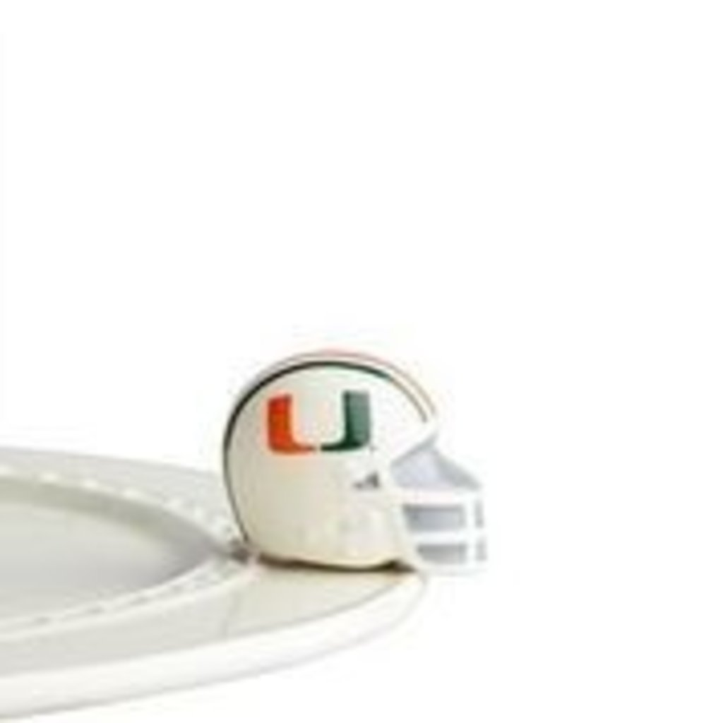 nora fleming u miami helmet mini