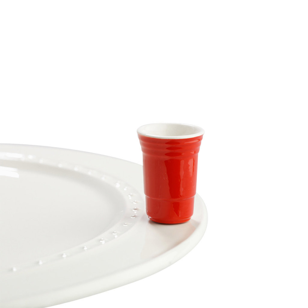 nora fleming fill me up mini (red solo cup)
