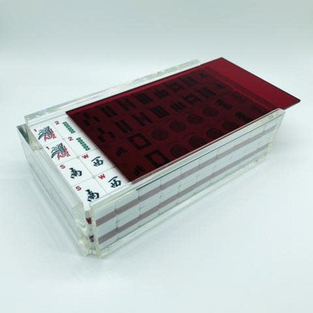 Luxe Dominoes Luxe Mahjong Set/Racks El Mahjong Red