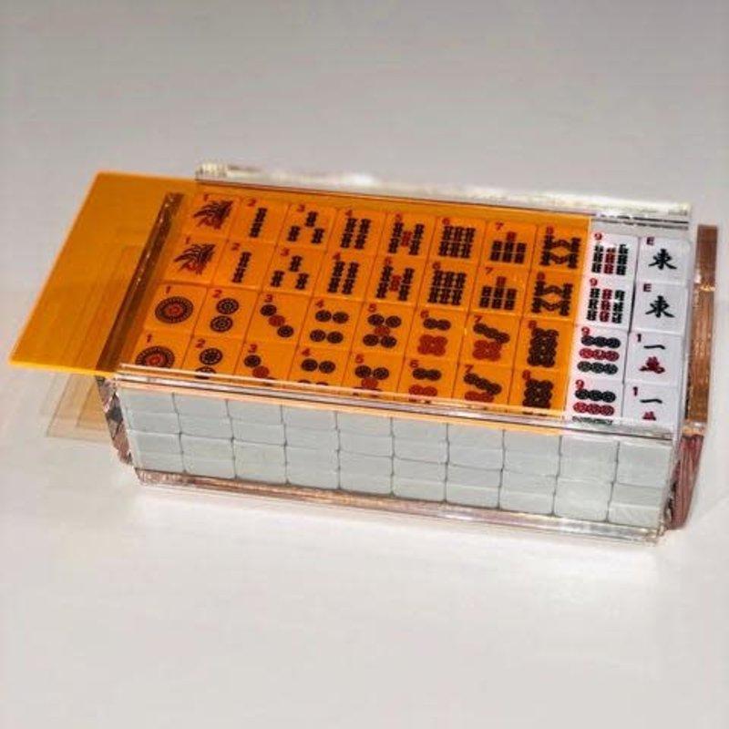 Luxe Dominoes Luxe Mahjong Set/Racks El Mahjong Orange