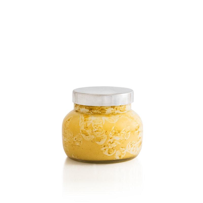 capri BLUE Aloha Orchid Watercolor  Yellow Petite Jar Candle, 8.0 oz