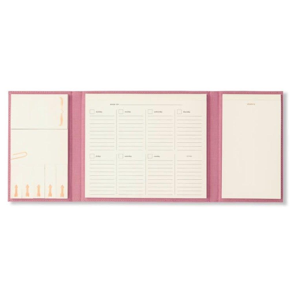 Kate Spade kate spade golden floral desktop weekly calendar and folio