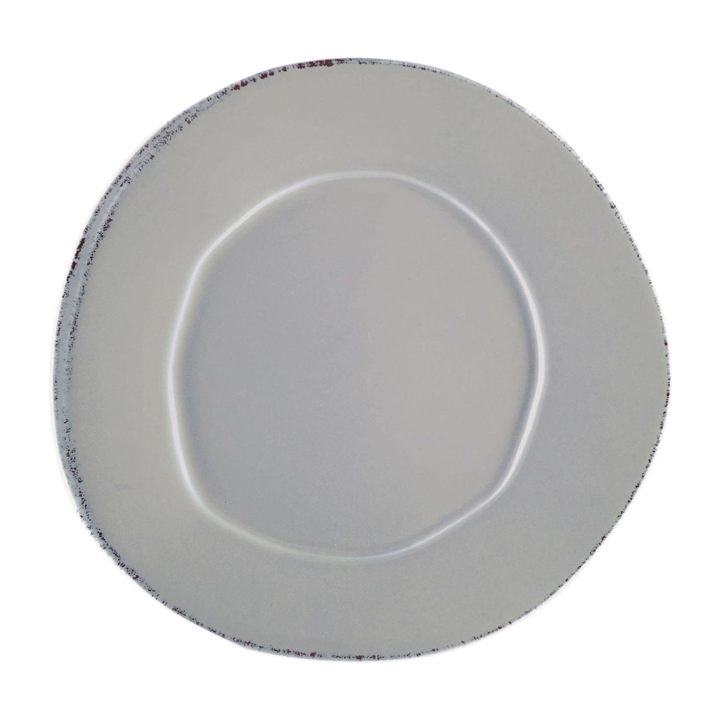 Vietri Lastra Gray Dinner Plate