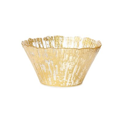 Vietri Rufolo Glass Small Deep Bowl Platinum Bowl