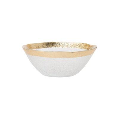 Vietri Rufolo Glass Small Organic Bowl GOLD