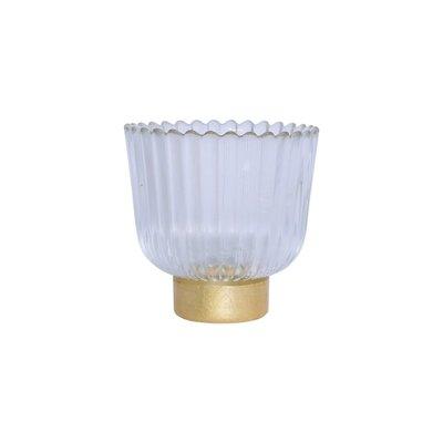 Vietri Rufolo Glass Gold Antique Votive