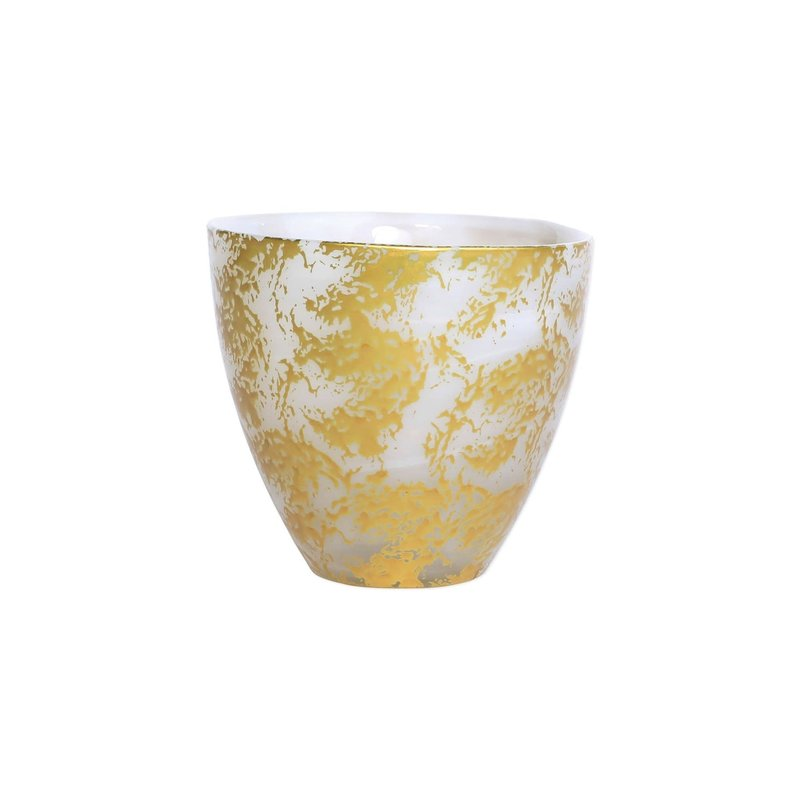 Vietri Rufolo Glass Gold Scattered Votive