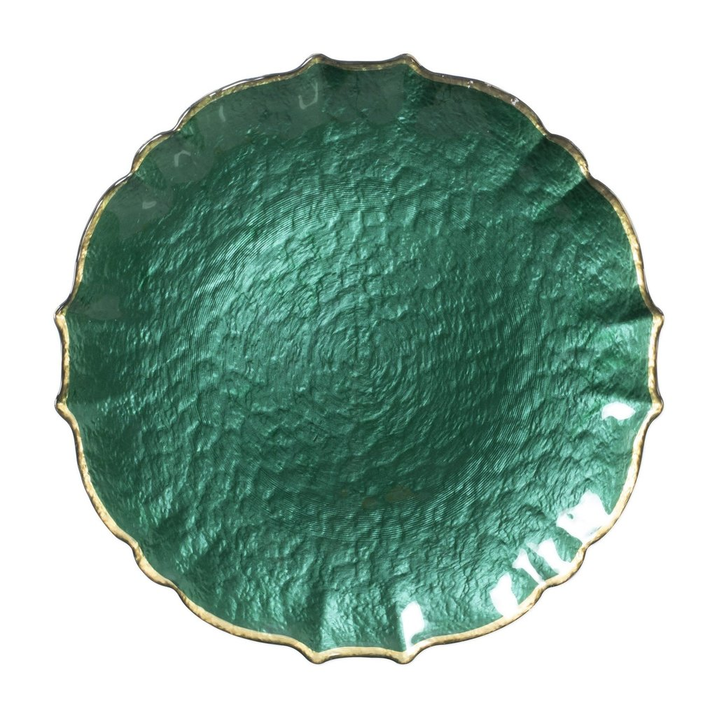 Vietri Pastel Glass Emerald Service plate/charger