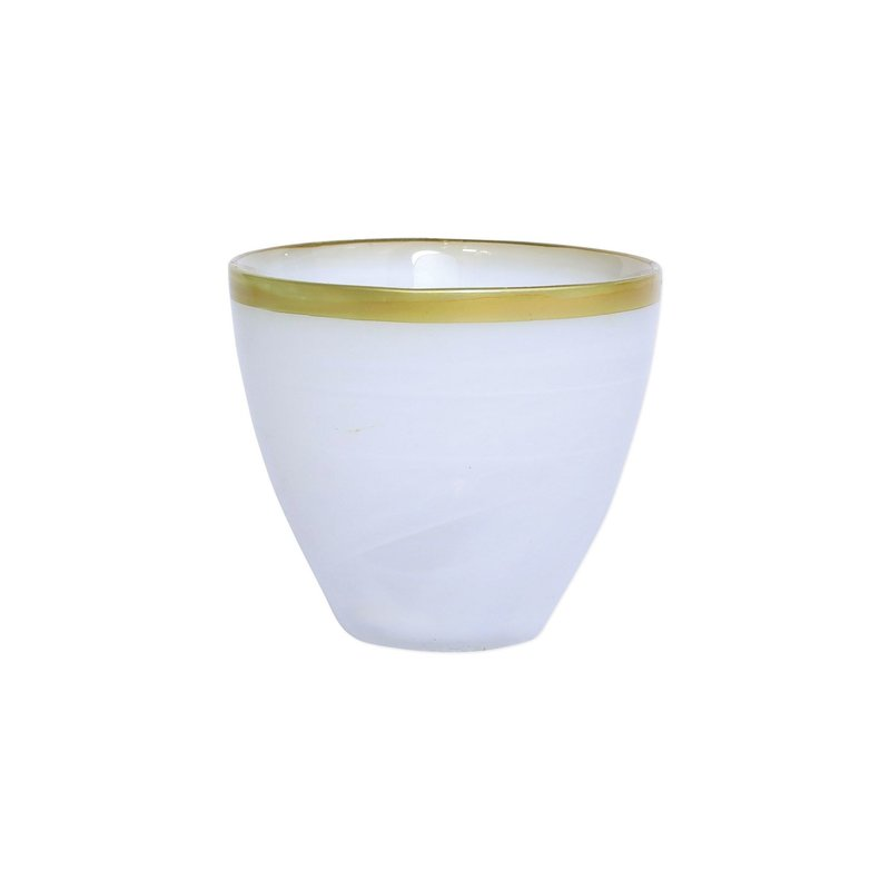 Vietri Rufolo Glass Gold Alabaster Votive