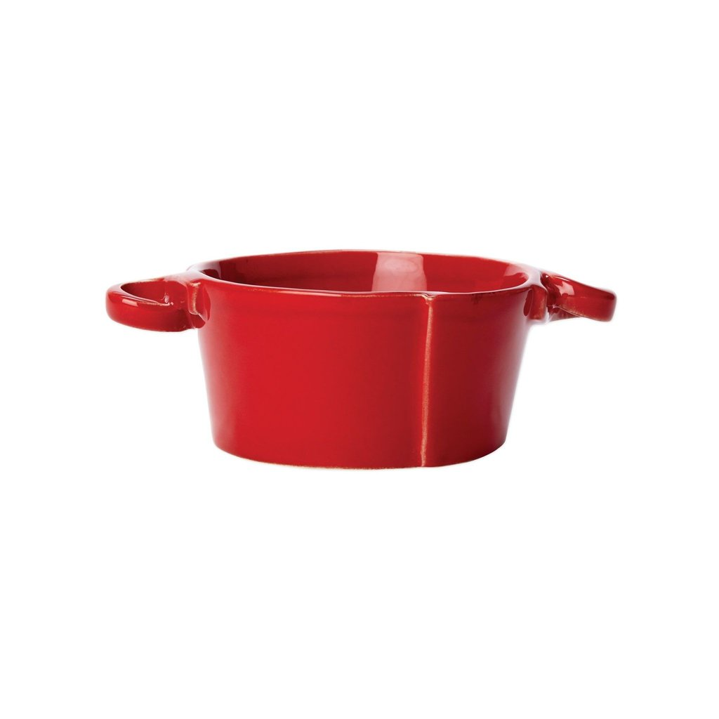 Vietri Lastra Red Small Handled Bowl