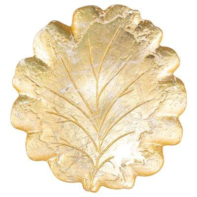Moon Glass Lg Gold Leaf