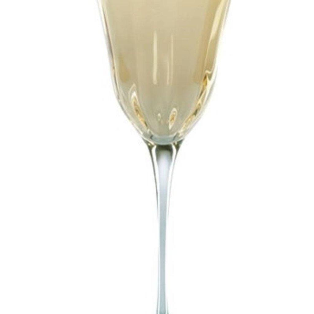 Optical Amber Wine Glass