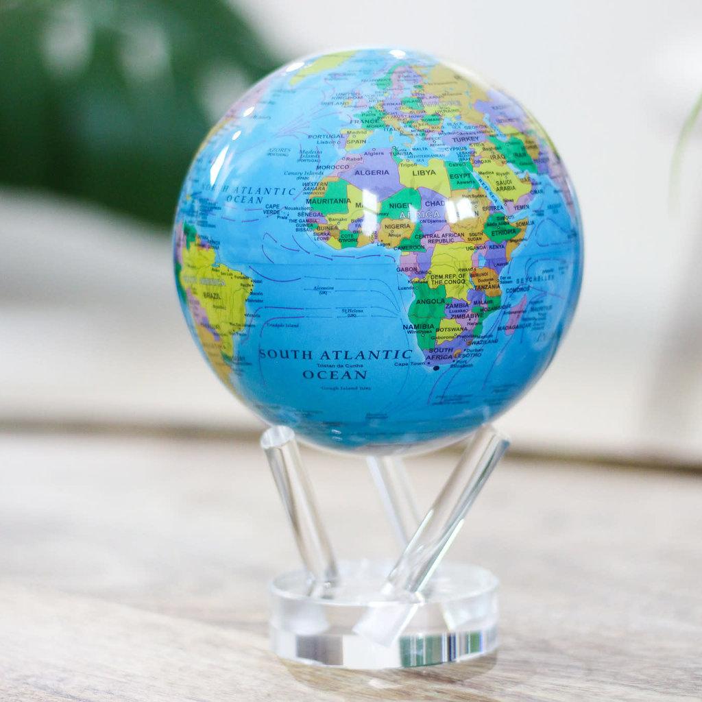 MOVA  International Political Map Blue Globe