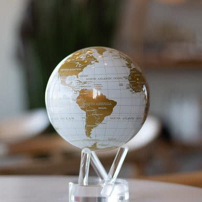 MOVA  International White & Gold MOVA Globe