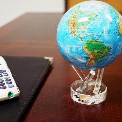 MOVA  International Relief Map Blue MOVA Globe